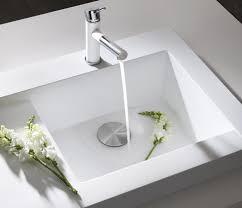 Outstanding Modern Kitchen Sink Design Displaying Hidden Sink