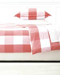 gingham duvet cover red white single cot bed large size