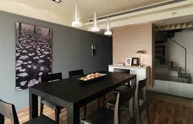 contemporary dining room wall decor. dining room. contemporary room decor with gray wall accent. accentuate for