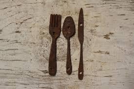 fork spoon knife on metal knife fork spoon wall art with thick rusty metal fork spoon knife rustic metal letters wall art