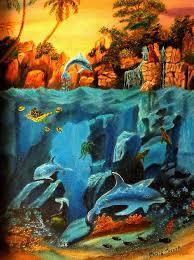 tafoya painting underwater scene by janis tafoya