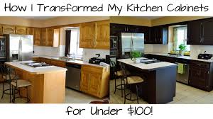 For Kitchen Furniture How I Transformed My Kitchen Cabinets For Under 100 Youtube