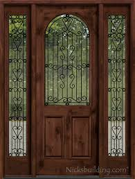 wrought iron is between clear glass