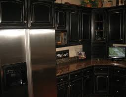 Exellent Kitchens With Black Distressed Cabinets Image Of Kitchen In Design
