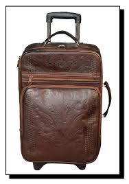 ropin west leather hand tooled roller carry on dj 840 s