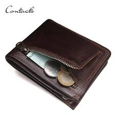 contact s genuine leather men wallets fashion brand bifold design men coin purse high quality male card
