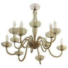 italian mid century modern smoked glass chandelier