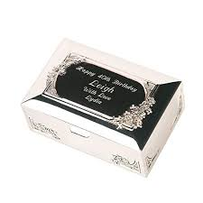 50th birthday end trinket box for her personalised 50th birthday gift idea