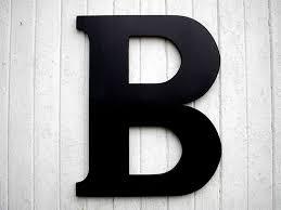 letter b wall decor