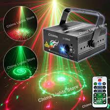 Online Laser Light Show Chims Stage Laser Dj Lights 3 Lens Red Green 12 Patterns