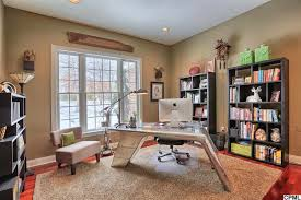 office shag. Eclectic Home Office With Hardwood Floors, Reveal 61.5\ Shag