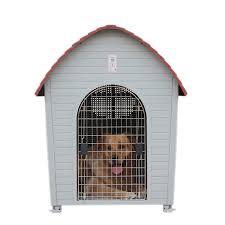 get ations chong yi villa waterproof outdoor dog house pet dog house dog kennel cages plastic goldens child