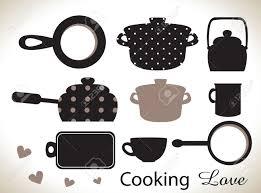 kitchen utensils silhouette vector free. Kitchen Utensils Silhouettes Silhouette Vector Free