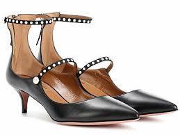 Aquazzura Womens Heels Pumps Ankle Strap In Black Calf
