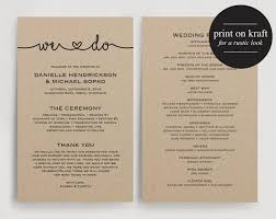program template for wedding printable wedding programs templates vastuuonminun