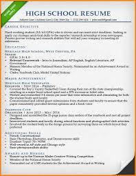 Resume Internship High School Resume Sample1 Jpg The Principled