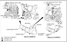 1996 infiniti i30 belt removal & installation engine 1996 Saab Alternator Wiring Diagram ok so here is what i found about the tensioner and how to loosen it and adjust it and so on now if you look at the pic you see a bolt Ford Alternator Wiring Diagram
