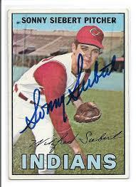 SONNY SIEBERT CLEVELAND INDIANS AUTOGRAPHED VINTAGE BASEBALL CARD #21516H -  5starautographs.com