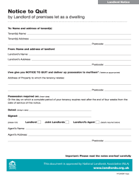 notice to quit template uk fill