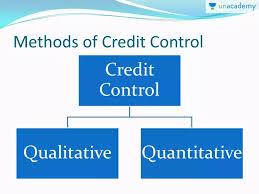 Quantitative Methods Of Credit Control Non Conventional Crash