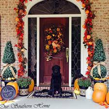 fall front door decorationsOutdoor Fall Decorating Ideas for Your Front Porch and Beyond