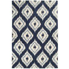 navy blue area rug astounding on modern home decoration together with ikat diamond white plush rugs for bedroom dining room living spaces