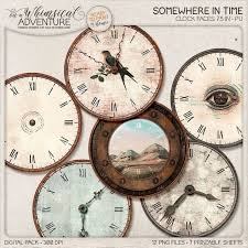 Clock With Hands Diy Clocks Make Your Own Wall Clock Kit Steampunk Decorating Ideas For Home Diy Gift Idea Digital Printable Clock Face