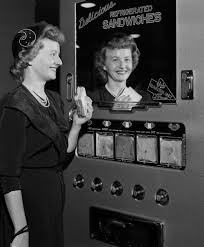1950'S Vending Machine Amazing Reallythere Were Such Thing As Sandwich Vending Machines In The