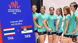 ถ่ายทอดสด วอลเลย์บอลหญิง เนชันส์ลีก 2021 ไทย vs เซอร์เบีย HD พากย์