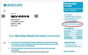 Sample Bank Statements How To Generate An Iban Barclays