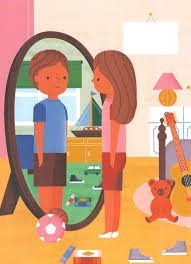 child looking in mirror clipart. let\u0027s talk about gender child looking in mirror clipart