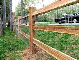 diy welded wire fence. 3 Hole Cedar Split Rail Fence With Galvanized Welded Wire Fabric Attached Wood Frame Framed . Diy