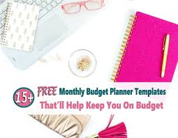 Keeping A Budget Worksheet Budget Planner 15 Free Printable Monthly Budget Planner