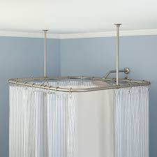 exclusive wall mounted shower curtain rod ceiling mount shower curtain rod bathroom glugu mount