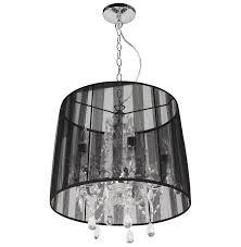 pendant lamp shade black crystal drop chandelier