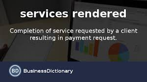 Services Rendered Invoice Magnificent What Is Services Rendered Definition And Meaning
