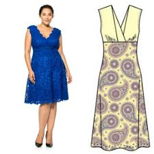 The Free V Neck Dress Pattern Is Available In European Sizes 44 50