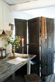 use the old broken backyard door as an aesthetic room divider paint it new or keep its original raw look image source digsdigs