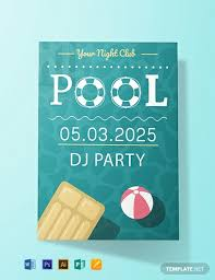 Free Pool Party Invitations Printable Free Printable Pool Party Invitation Template Word Psd