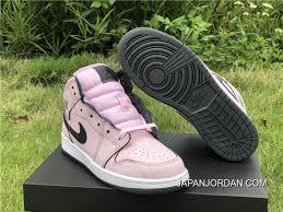 Women Air Jordan 1 Mid Gs Pink Foam Black White New Release