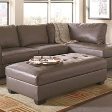 grey leather ottoman  stealasofa furniture outlet los angeles ca