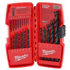 3 32 drill bit. milwaukee thunderbolt black oxide drill bit set (21-piece) 3 32