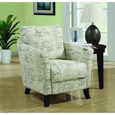 monarch specialties white fabric arm chair i the home depot accent chairs arms monarch off
