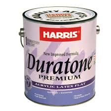 Harris Duratone 1 Gal Flat Acrylic Latex Interior Exterior Paint