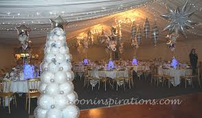 Winter wonderland party decorations, themed Christmas party    ballooninspirations.com