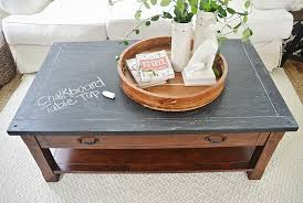 chalkboard top coffee table makeover