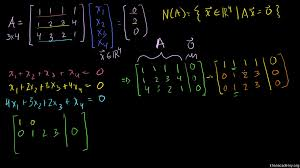 null space 2 calculating the null space of a matrix khan academy