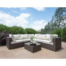 Outdoor Patio Furniture Sectional Brown Ikayaa 6pcs Outdoor Patio Outdoor Patio Furniture Sectionals