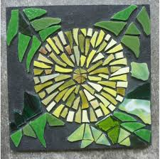 dandelion original stained glass mosaic