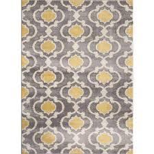 moroccan trellis contemporary gray yellow 3 ft x 5 ft indoor area rug